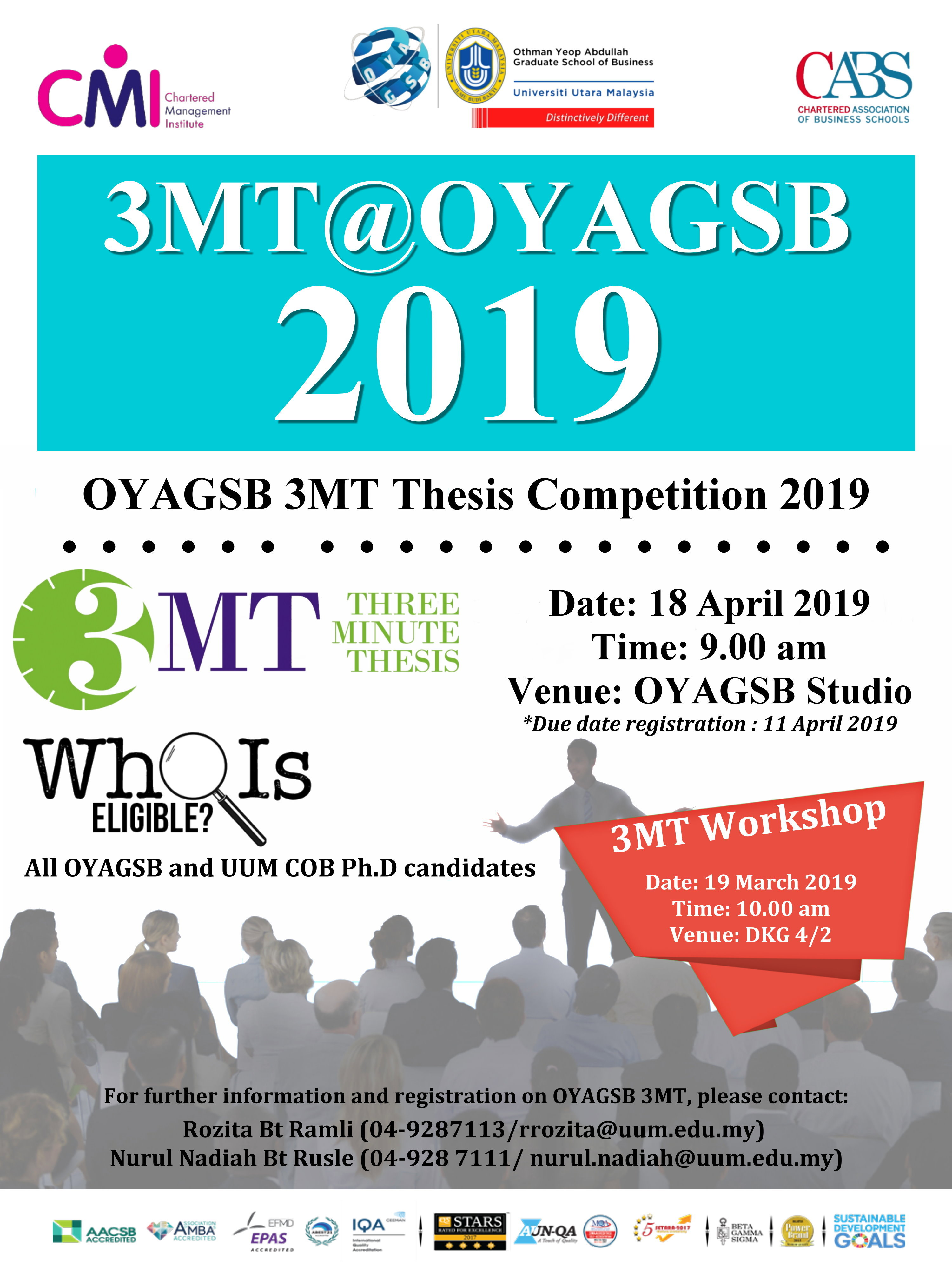 OYAGSB 3MT THESIS COMPETITION 2019