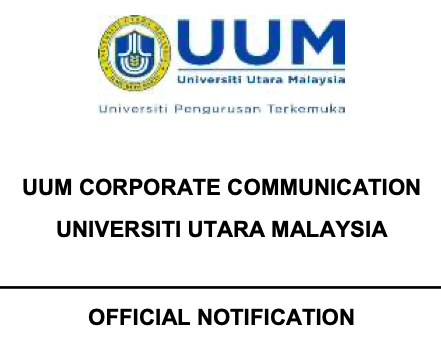 UUM OFFICIAL NOTIFICATION - ENFORCEMENT OF MOVEMENT CONTROL ORDER BEGINNING FROM 18 MARCH TILL 31 MARCH 2020