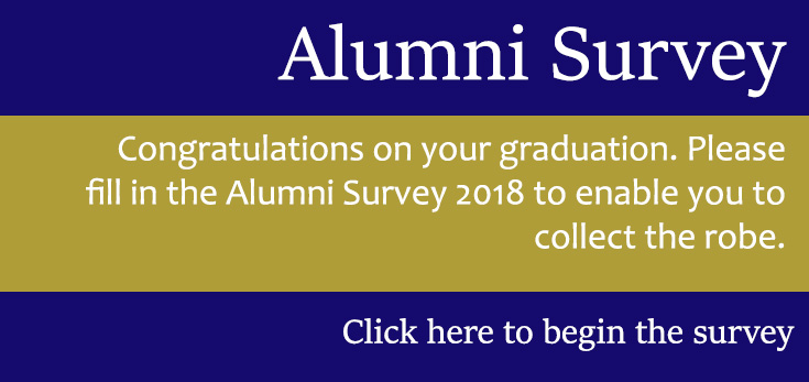 alumni survey banner button